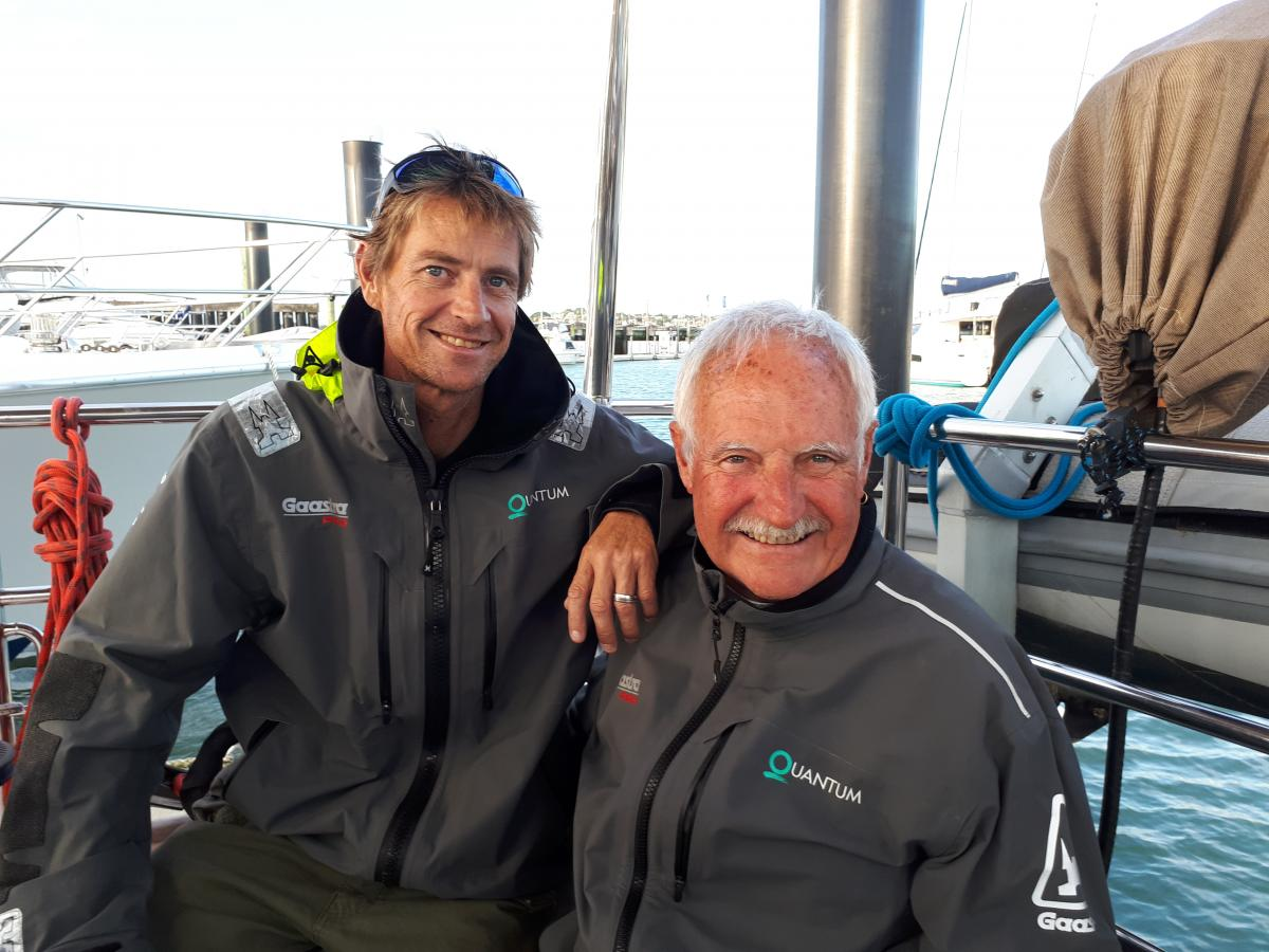 Hamish and Malcolm Dickson will race against each other in the Solo Tasman. Photo Yachting NZ.