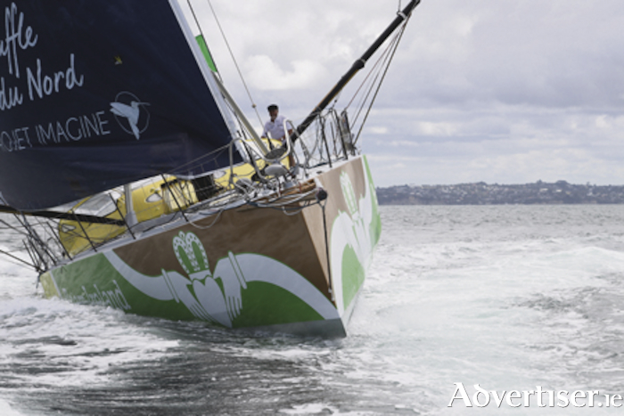 Galway's Enda O'Coineen completes his solo circumnavigation of the globe sixteen months after starting. Photo Galway Advertiser.