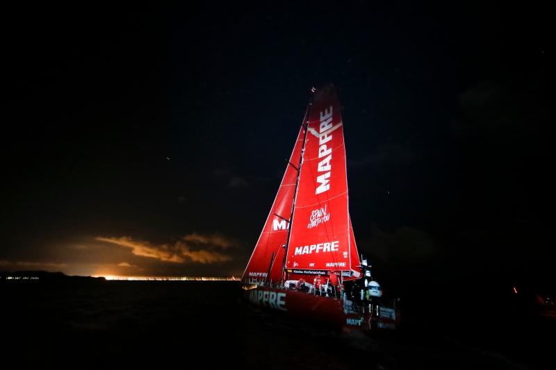 Leg 7 from Auckland to Itajai. Arrivals. 08 April 2018. Pedro Martinez/Volvo Ocean Race
