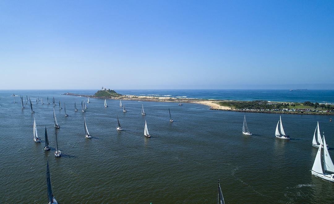 The Newcastle fleet leaves for Port Stephens.