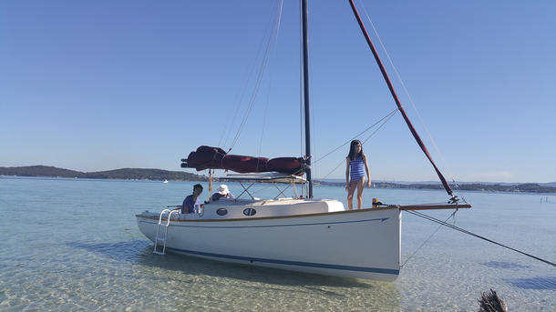 What makes a trailer sailer a fantastic option for a family cruiser.