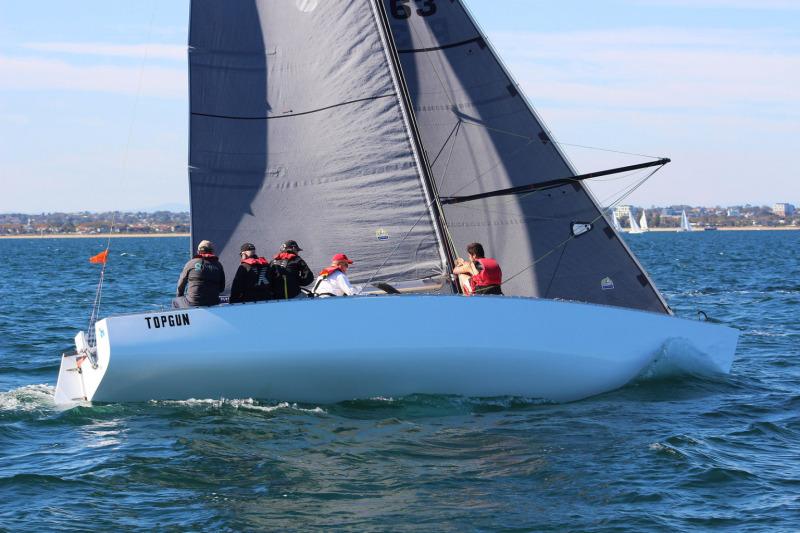 Top Gun competing in the Nautilus Range Series regatta on Port Phillip last weekend.  Photo Nautilus Marine.