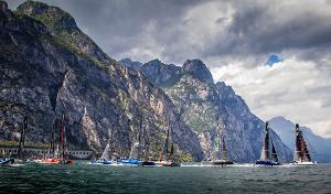 Lake Garda is one of the world's top venues for foiling catamaran racing . Photo ©: Jesús Renedo / GC32 Racing Tour.