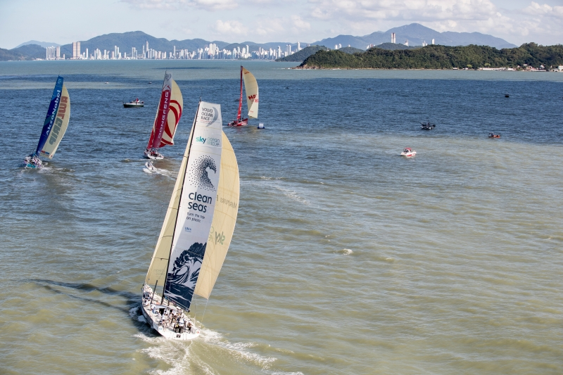 Itajai Stopover. Practice Race. 19 April 2018. Photo Ainhoa Sanchez/Volvo Ocean Race.