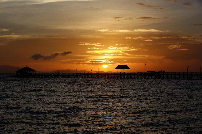 Sunset at Wae Cicu Beach in Labuan Bajo
