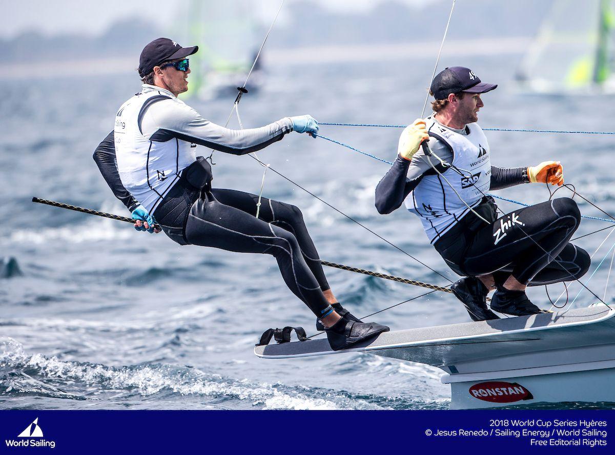 David Gilmour and Joel Turner at Hyeres 2018. Photo Jesus Renedo/Sailing Energy/World Sailing.