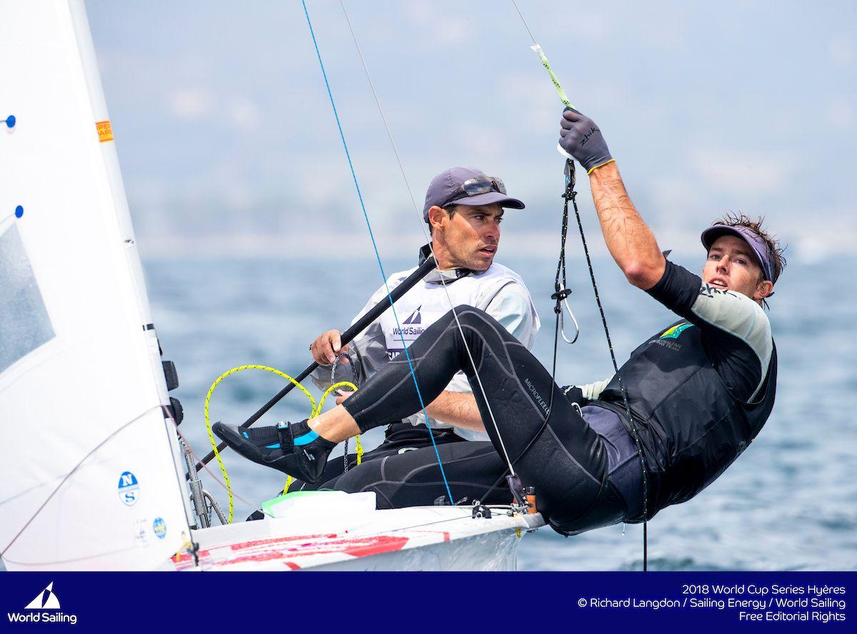 Mat Belcher and Will Ryan at Hyeres 2018. Photo Richard Langdon/Sailing Energy/World Sailing.