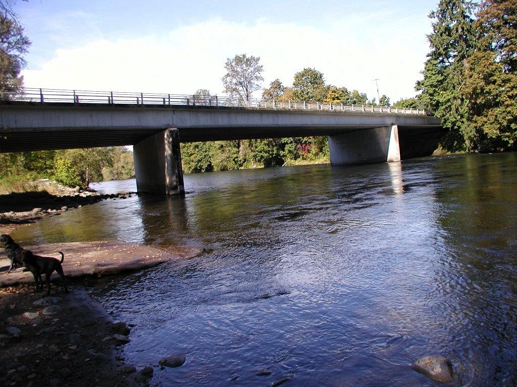 Dangerous? Depends on your lawyer. The North Santiam near Mehala