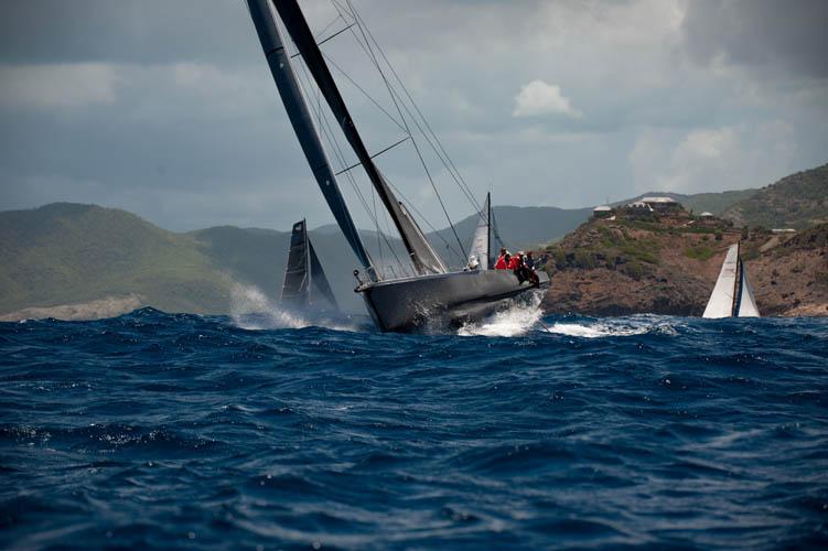 Warrior leading the fleet early on - Antigua Bermuda Race