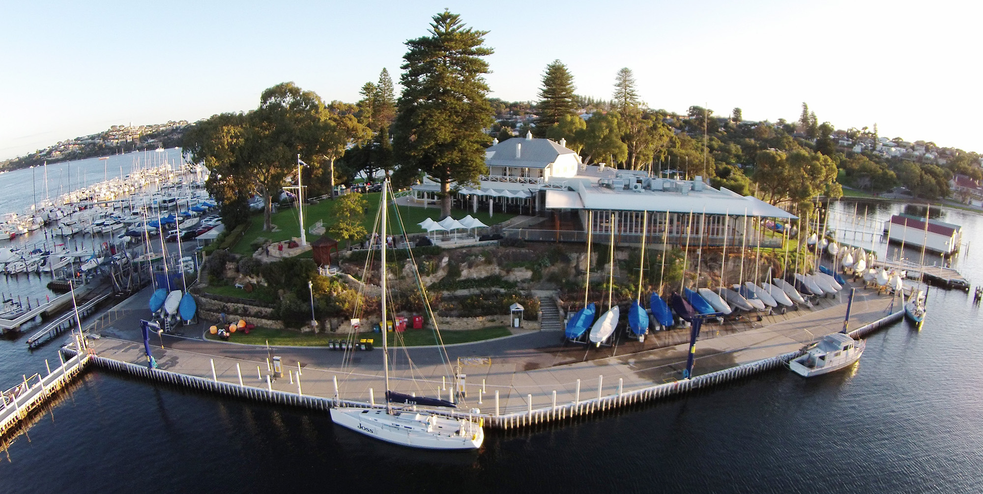 Royal Freshwater Bay Yacht Club on the Swan River in Perth.