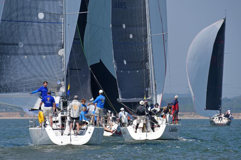 Close racing for the two J/109s Jiraffe and Jubilee  c. Rick Tomlinson.