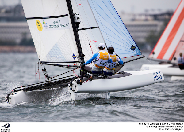 Santiago Lage and Cecelia Saroli (ARG). Photo Sailing Energy/World Sailing.