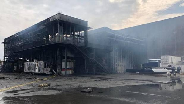 Team France's sailing base in Lorient was destroyed by fire. Photo Team France.