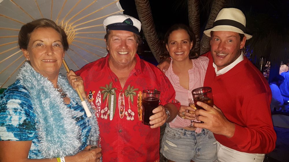 The crew of LeilaniB at the Gilligans Island party. Photo Downunder Rally.