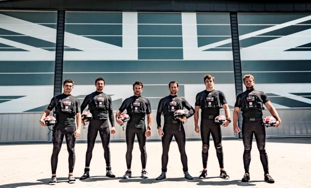 INEOS TEAM UK's  crew. From left to right: Iain Jensen