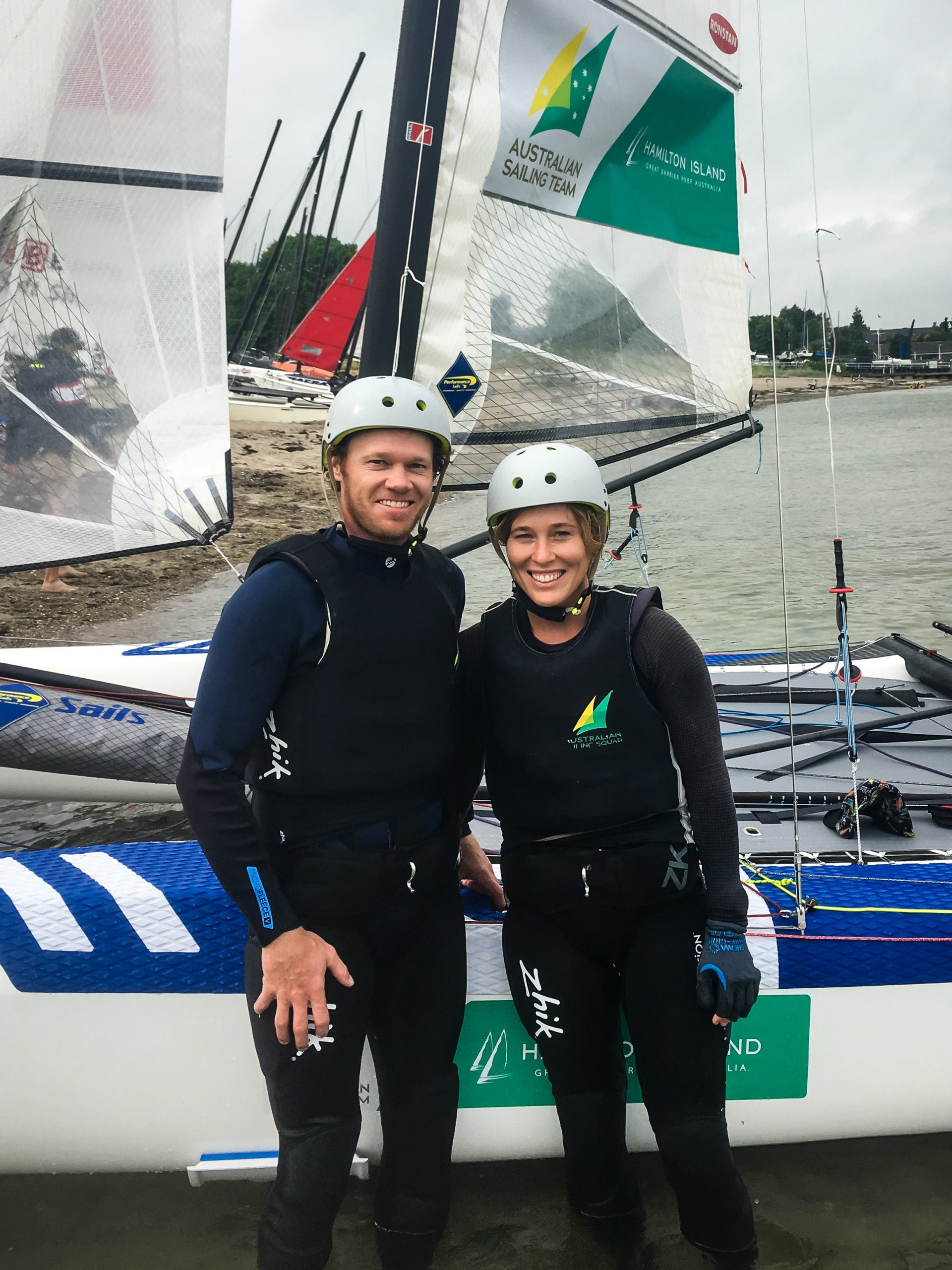 Nathan and Haylee Outteridge. Photo Australian Sailing Team.