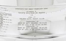 Recent engravings on the America's Cup. Photo Emirates Team New Zealand.