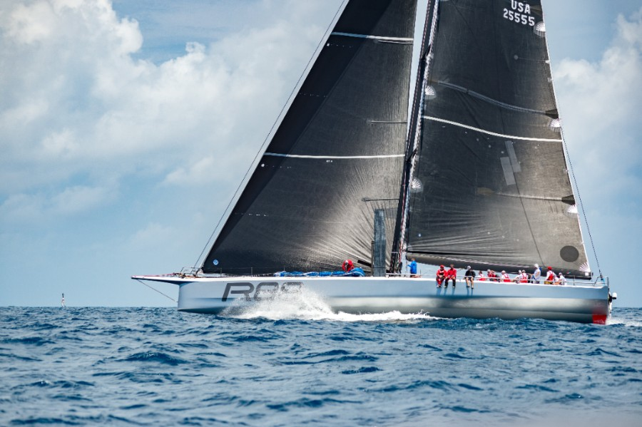Rambler at the start area of the AAR race from Bermuda to Hamburg on July 8