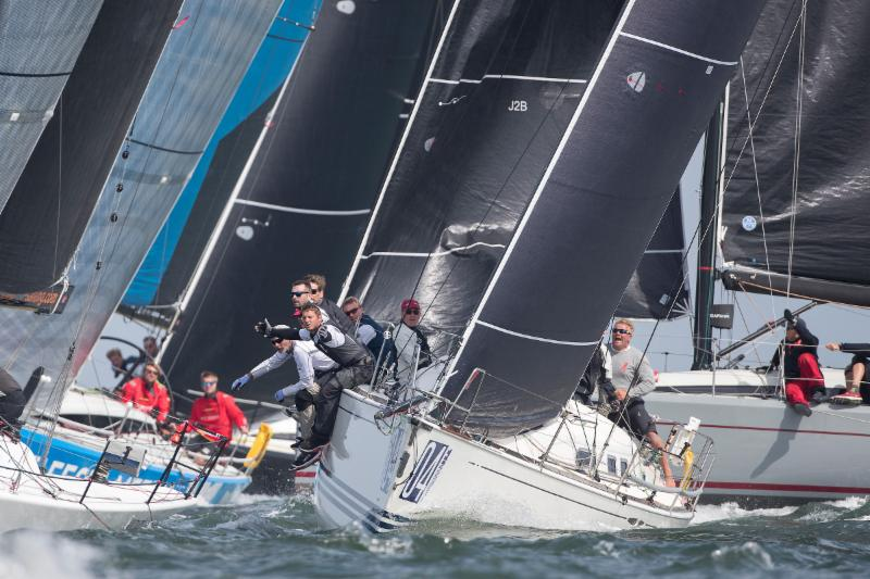 Another day of tight tactical sailing in Class C at the 2018 Offshore Worlds. Photo © Sander van der Borch.