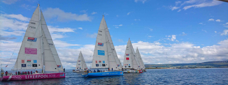 Light airs start for the fleet in Derry.