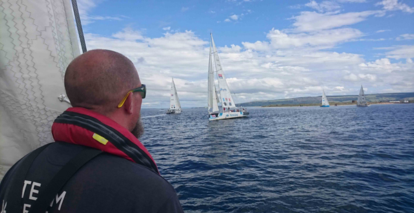 Close racing down the west coast of Ireland.