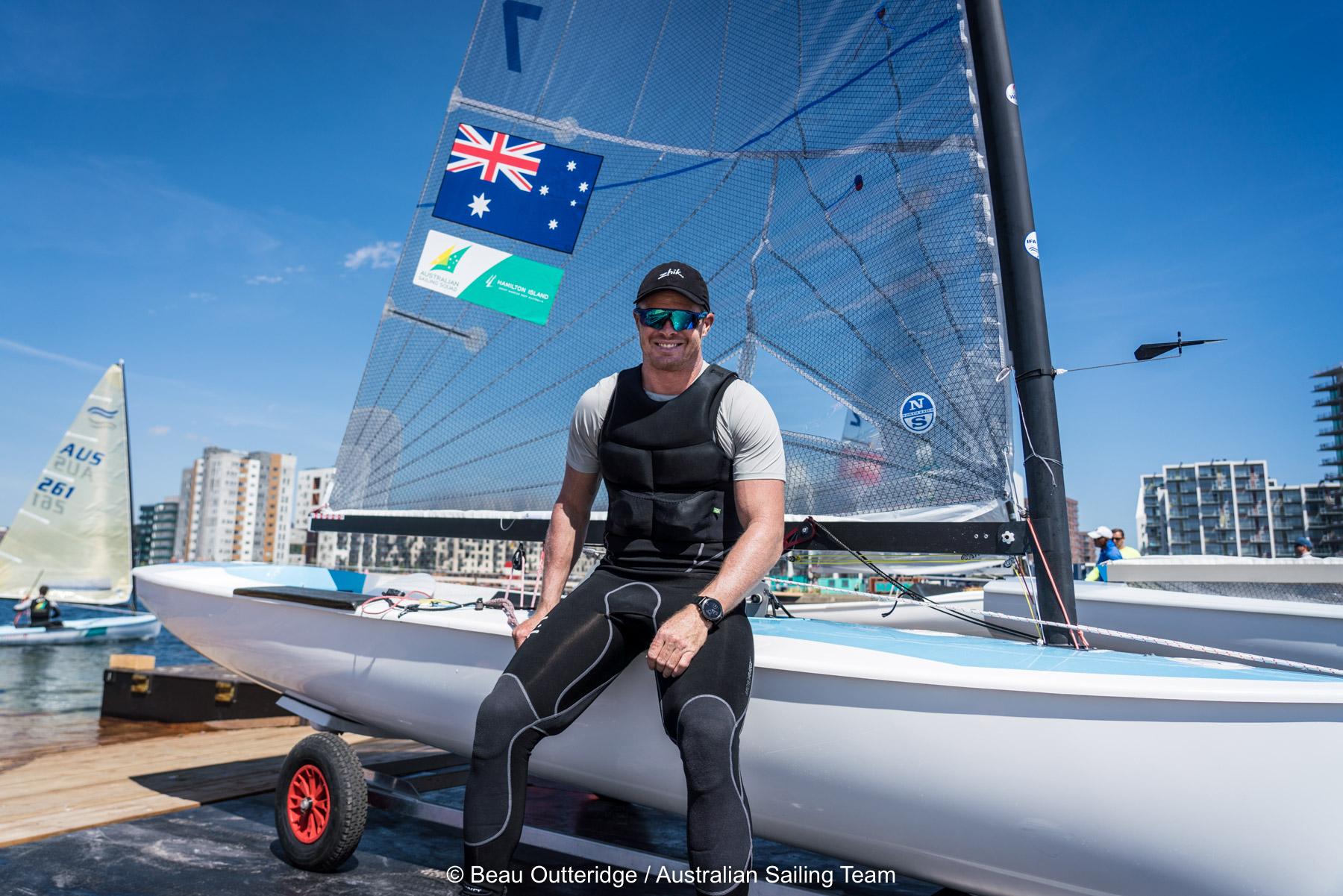 Tom Slingsby in Aarhus. Photo Beau Outteridge/Australian Sailing Team.