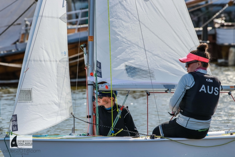 Light conditions in Bodstedt-made-it-tough-for the Australians - Cadet Worlds pic