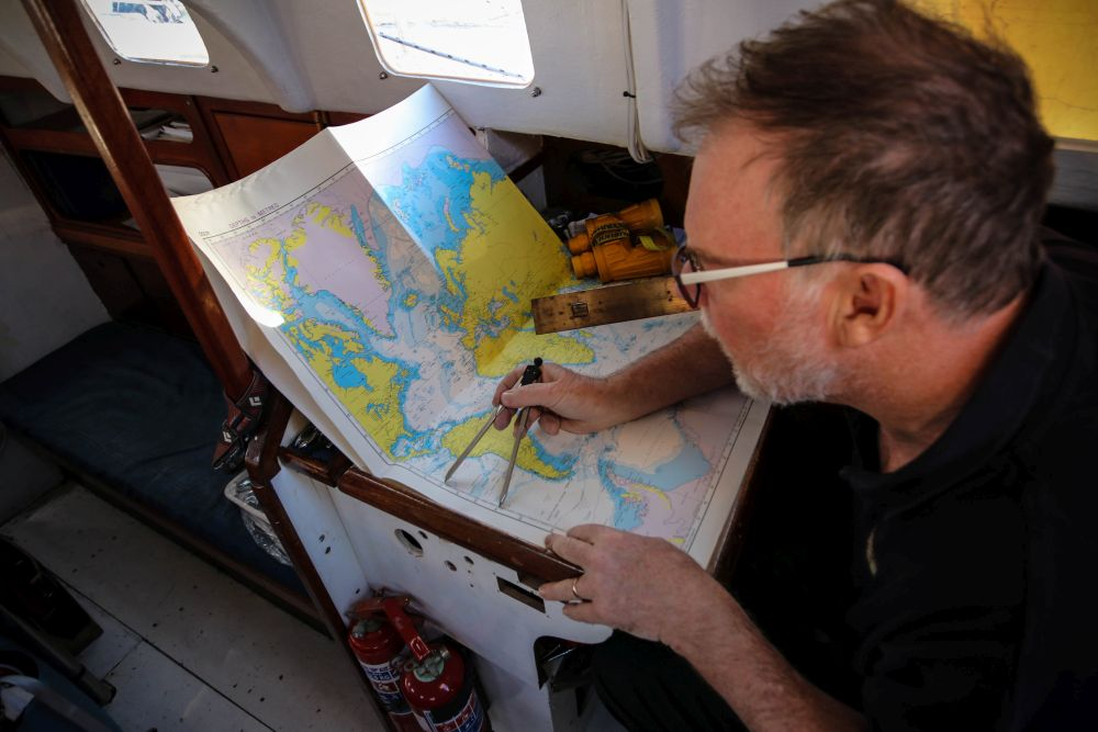 Australian Mark Sinclair is relishing using his traditional navigation skills and the trade wind conditions.