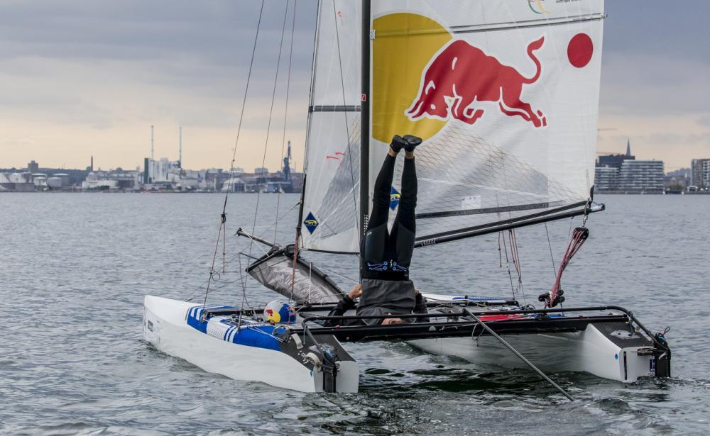 Santiago Lange (ARG) - Nacra 17. © Sailing Energy / World Sailing