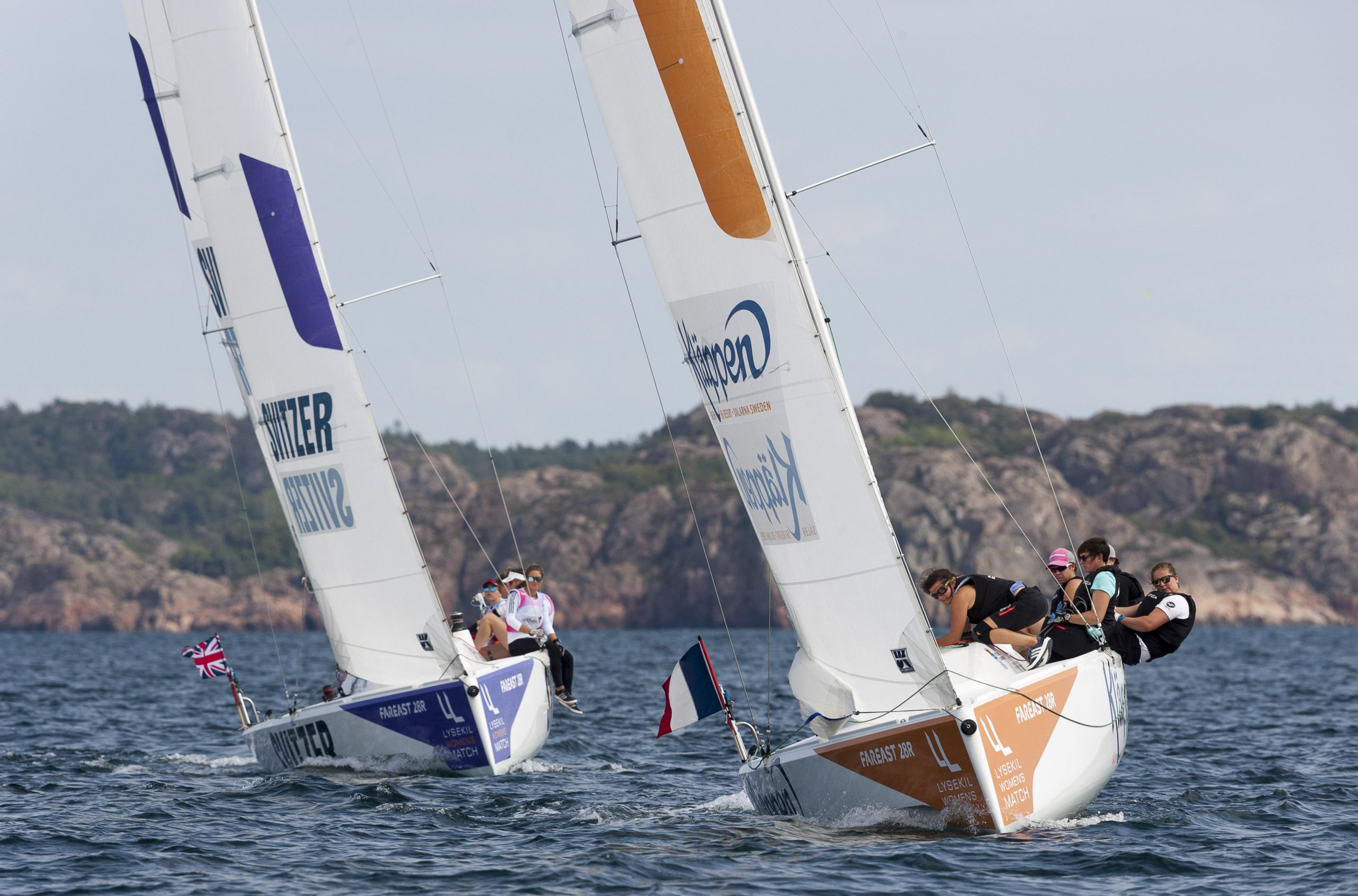 Match in Pink by Normandy Elite Team in the lead after day one in Lysekil. Photo: Dan Ljungsvik.