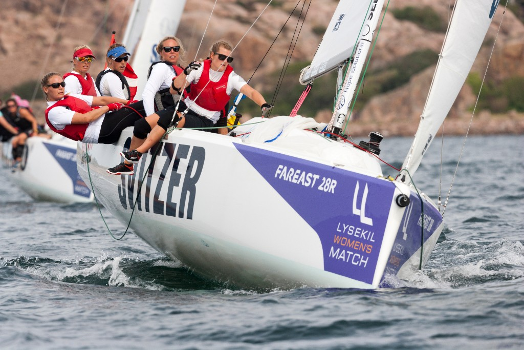 Henriette Koch is the only skipper who has secured a spot in the quarter finals with her nine victories out of ten sailed matches. Dan Ljungsvik Photo.