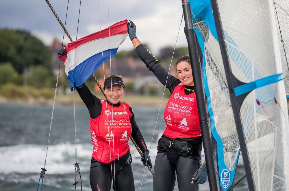 Annemiek-Bekkering and-Annette-Duetz won-49erFX-Gold---Sailing-Energy/World-Sailing-pic