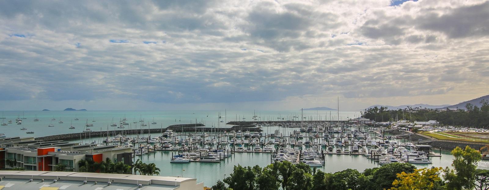 Abell Point Marina where the bulk of the fleet stays - Vampp Photography