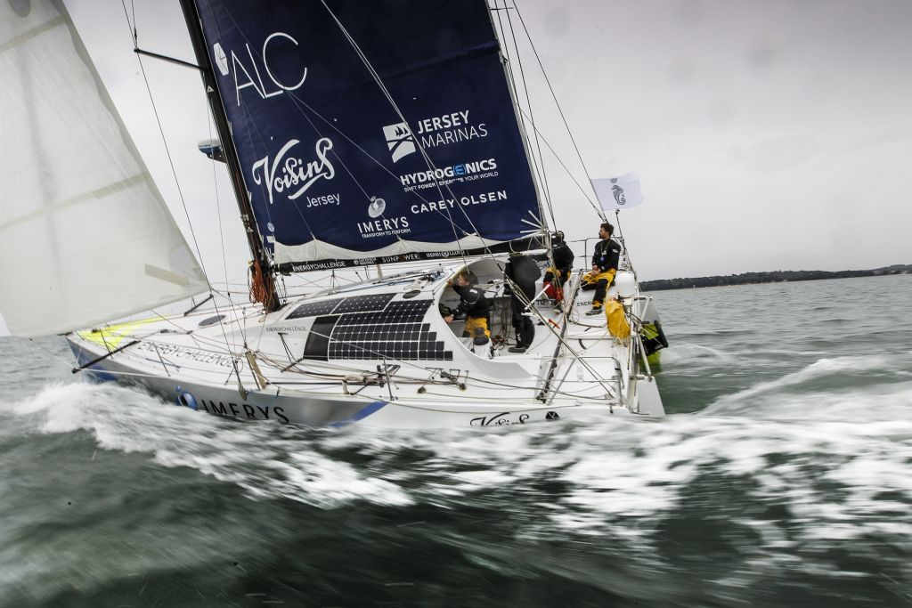 Class40 Imerys Clean Energy at the start - Paul Wyeth/RORC pic