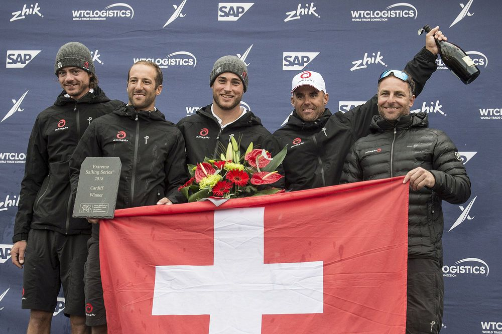 Alinghi were victors in the Extreme Series Cardiff 2018. Photo © Vincent Curutchet / Lloyd Images.