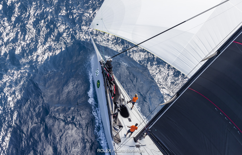 Aerial view of winner Momo - Carlo Borlenghi/Rolex pic