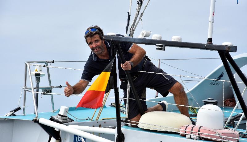 Belgian skipper Denis Van Weynbergh. Photo © B. Gergaud / EyeSea.
