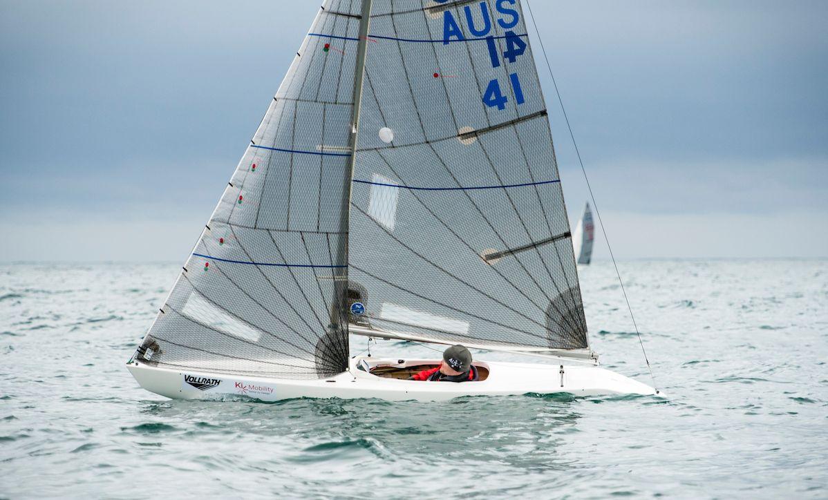 Matt Bugg at the 2018 Para World Championships. Photo ©2018 Cate Brown/World Sailing.