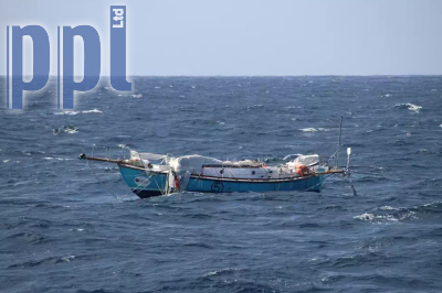 Abhilash Tomy's yacht is to be recovered  by the Indian Navy. Photo PPL Agency.