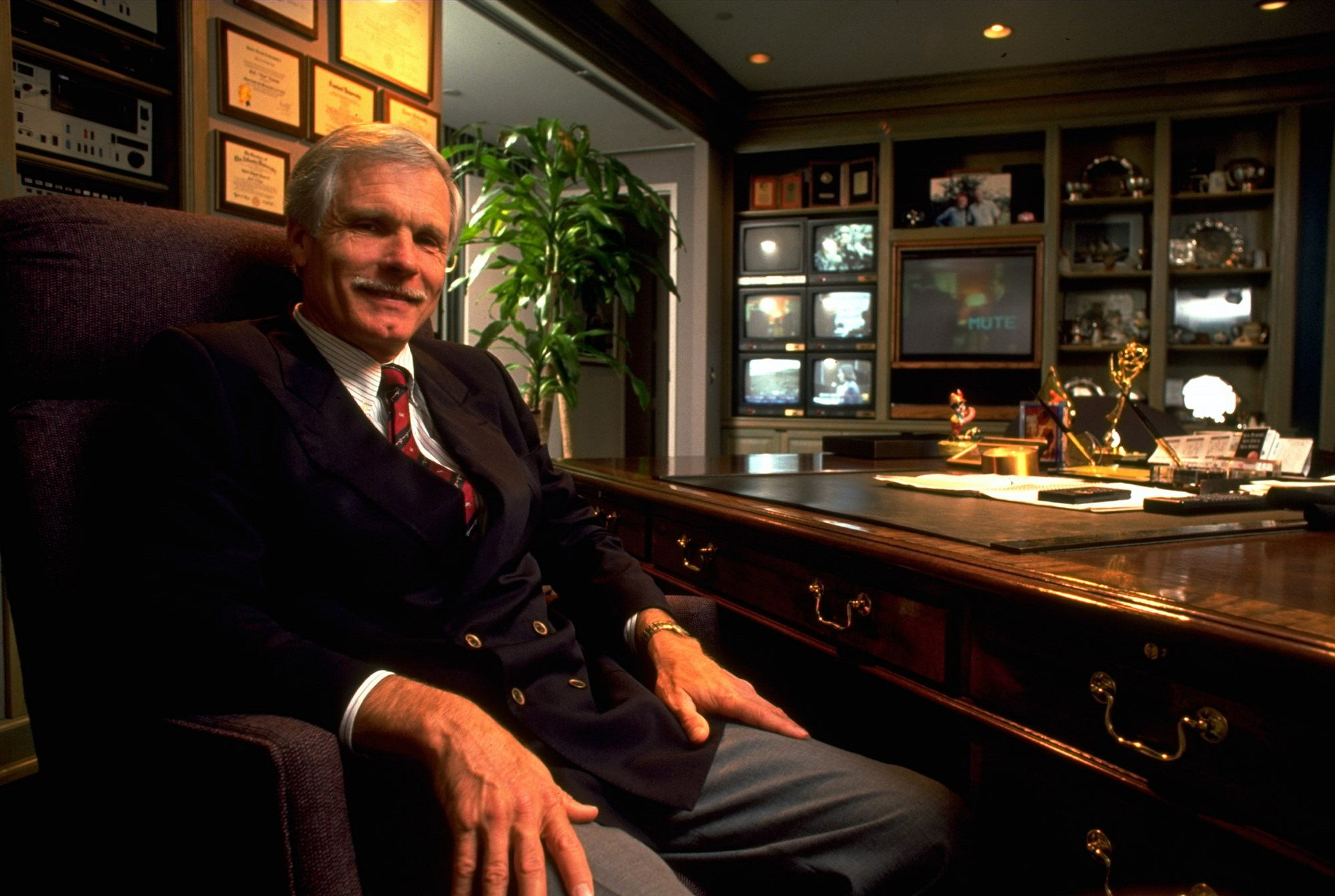 Ted Turner in his office in 1991.Ted Thai / Time Life Pictures/Getty Images.