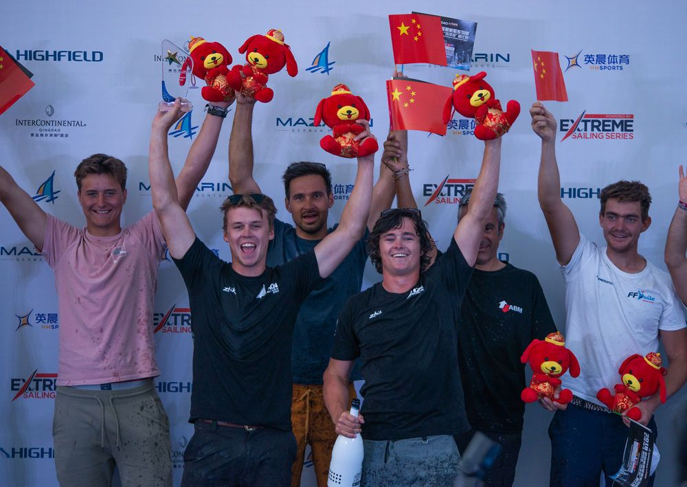 The podium at the Flying Phantom event in Qingdao. Photo © Patrick Condy.