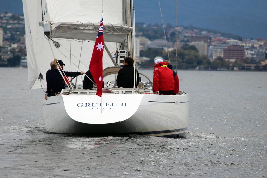 Gretel II sailing on the Derwent - Peter Watson pic