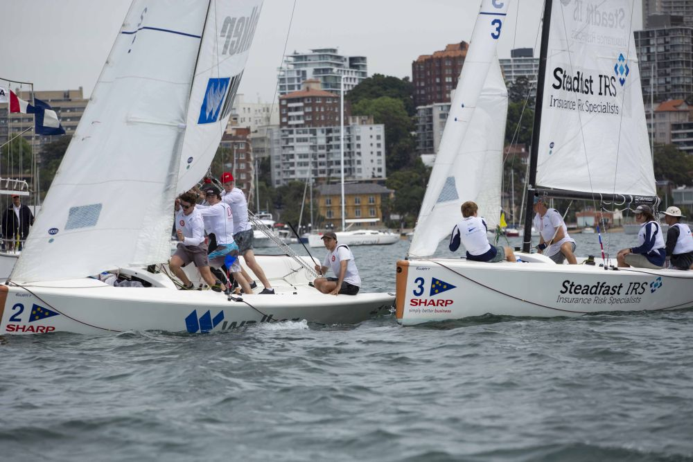 Close racing ensued after the NE breeze filled in. CREDIT - CYCA.