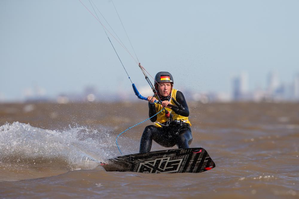 Kiteboarding at the Youth Olympics. Photo Matias Capizzano/World Sailing.
