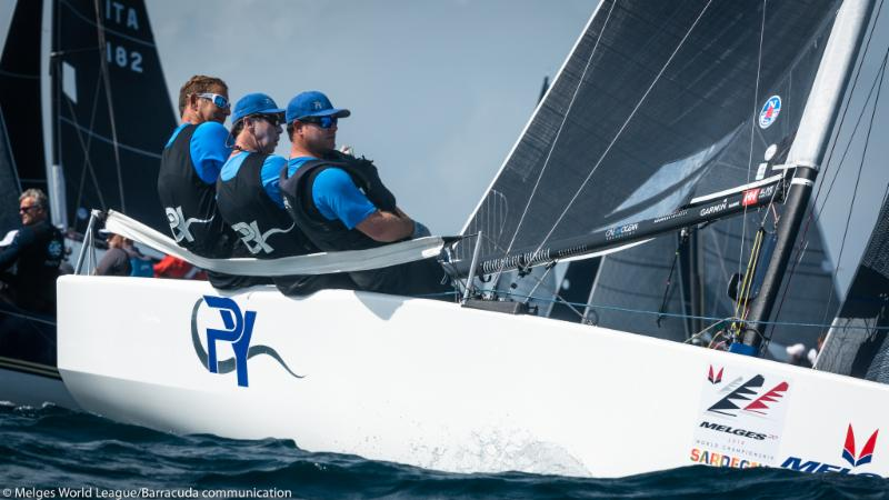 Drew Friedes and crew on Pacific Yankee