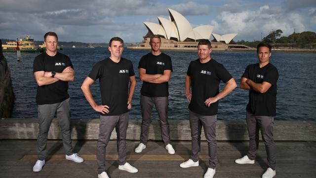 Australia SailGP team. (L-R) Sam Newton