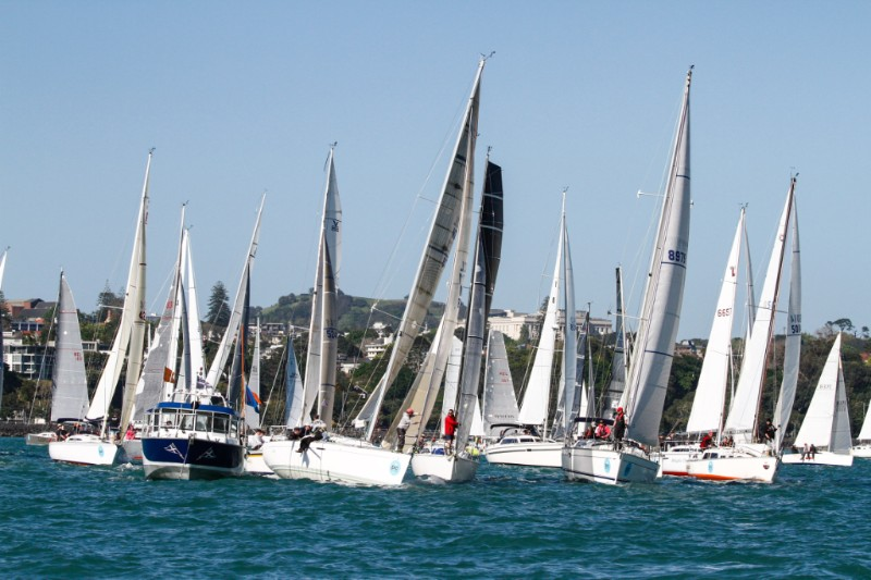 Off the start in the Coastal Classic