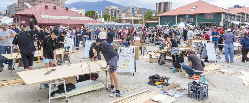 The Quick 'n' Dirty boat building competition. Photo credit Ballantyne Photography.