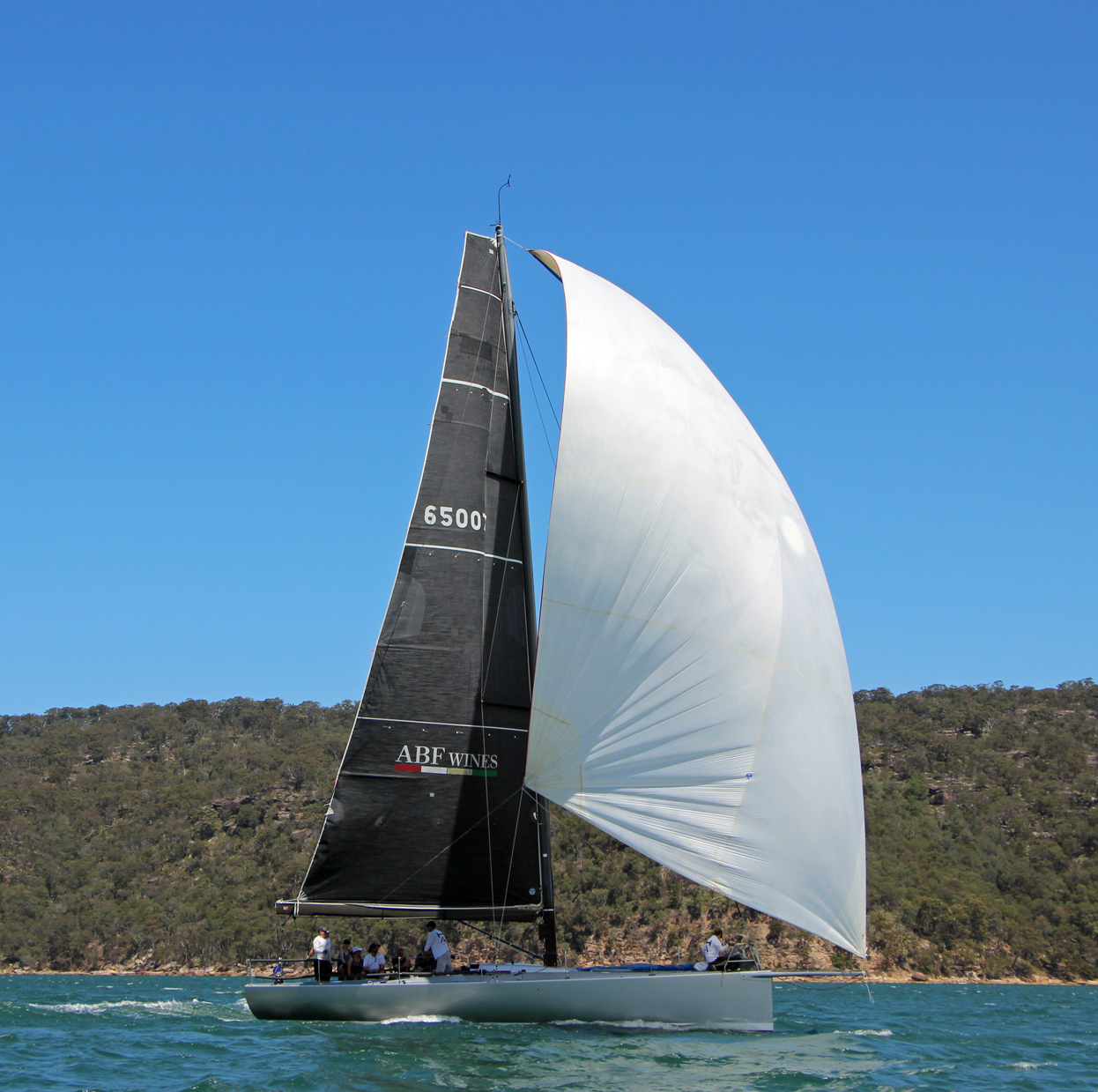 Marcus Grimes' new toy training on Pittwater. Photo credit RPAYC.