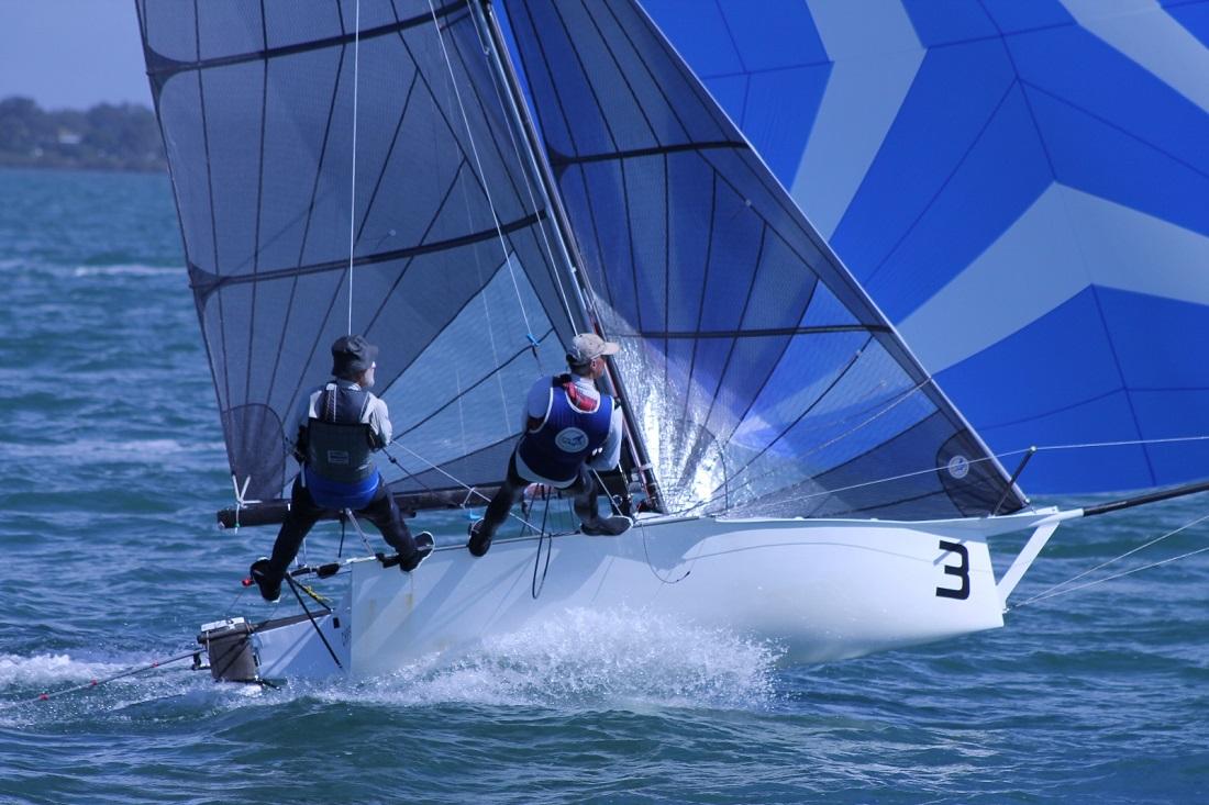 Chapman High Performance Sails gunning it - John Williams pic